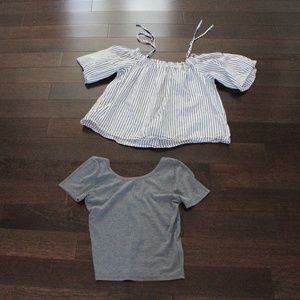 hollister  hm cropped tops small 4